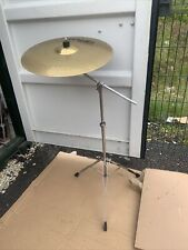 "Free P&P. A 101 Paiste 20"" Ride Cymbal w Boom Arm Cymbal Stand. RCS104102"