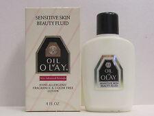 Oil Of Olay Sensitive Skin Beauty Fluid Hypo Allergenic Advanced Formula 4 oz