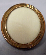 """Oval Frame, Stand Up Metal, 2.5"""" Tall 2 1/8"""" Across Vintage"""