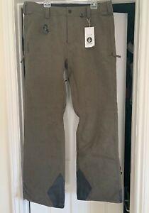 NWT MENS VOLCOM PAT MOORE SNOW PANTS $200 XL Modern relaxed fit Brown Khaki