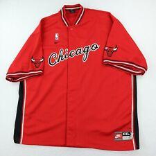 New listing Nike Chicago Bulls Baseball Style Jersey Mens 2XL Basketball Embroidered Logo