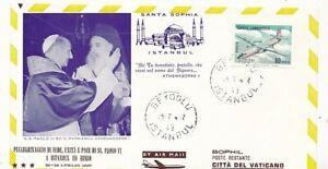 D222598 Papal Visit Pope Paul VI Cover Santa Sophia Istanbul Turkey