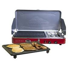 Camp Chef Mountain Series 2 Burner Stove, Grill & Griddle Combo