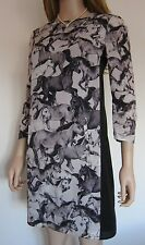 TED BAKER ~Wild Horses~ Dress UK 10 2 Cruise ~Party~ Wedding Grey Black White