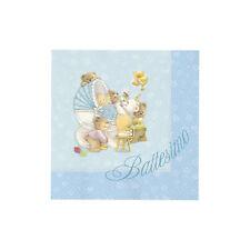 TOVAGLIOLI BABY BEARS CM. 25X25 CONF.20 PZ. BATTESIMO FESTE E PARTY