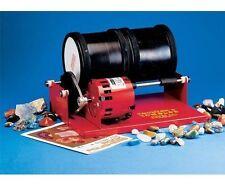 Double Barrel Drum Rock Polishing Tumbler and Polishing Geology Kit with Grit