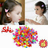 20/50/100Pcs Hair Claws Butterfly Hair Clips For Kids Hairpins Be Mini Baby V3R8