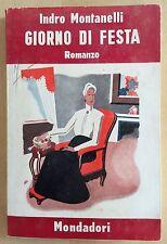MONTANELLI-GIORNO DI FESTA-Mondadori 1939-RARA 1 EDIZIONE-ANGOLETTA