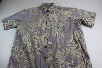 Cooke Street Honolulu Cotton Island Hawaiian Pocket CAMP SHIRT L Reverse Print