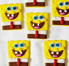 SPONGEBOB SQUAREPANTS CUP CAKE TOPPERS X 12 - APPROX 5CM -  ***WOW***