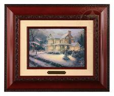 Thomas Kinkade Victorian Christmas III - Brushwork (Brandy Frame)