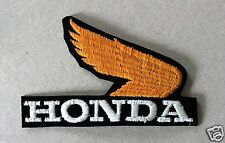Vintage Sew-on Patch Honda Logo With Orange Wing