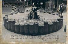 1973 Press Photo Ship Propeller Fountain Jantzen Beach Mall Portland Oregon