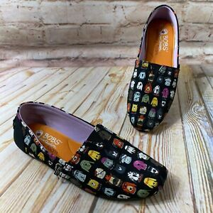 Bobs for Dogs Skechers Size 6 Black Canvas Flats Shoes Comfort Memory Foam 33179