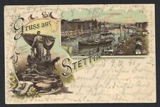 GERMANY 1898 STETTIN POST CARD WITH STETTIN DATED CANCEL 9.10.98