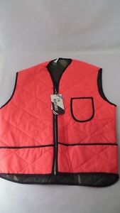 NOS Reversible Hunting Vest - Insulated - Orange & Camo - Size M - Made in USA