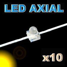 370/10#LED axial 1,8mm jaune 10pcs