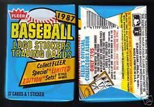 1987 Fleer Baseball Wax Pack (x1) Fresh from Box! - Bonds