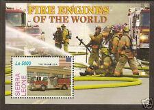 SIERRA LEONE 2005 FIRE ENGINES Souvenir Sheet No 2 MNH
