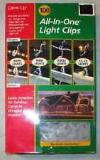 100 Gutter Light Hook Clips Clip Christmas Light Hooks Any Outdoor Lights NEW