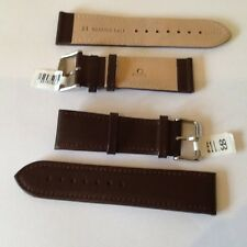 leather watch strap by Condor,,genuine calf,matt brown,24mm lug, 283r02