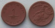 Porzellanmünze Boldixum auf Föhr 1 Mark 1920 108a