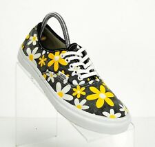292c6ad7870159 Vans Womens 9 Mens 7.5 Van Doren Classic Floral Yellow White Blue Excellent