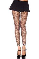 Estampado Leopardo Sin Pies Medias de rejilla sexy diseño Lencería p35822