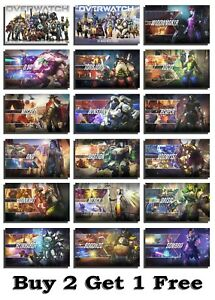 Overwatch Character Gaming Poster Print Wall Art A3 A2 Xbox PS4 Game Online Geek