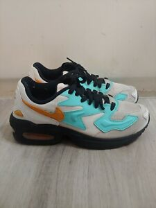 Nike Air Max2 Light Black White Teal Women's Sz 7 sneakers running shoes