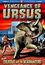 NEW DVD // VENGEANCE OF URSUS + COLOSSUS & the HEADHUNTERS - SAMSON BURKE - 1964