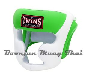 Twins HGL3 Muay Thai Head Guard Kick Boxing Headgear Black Red White Blue