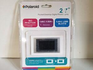"Polaroid 2.7"" Mini Digital Photo Frame Desktop NIB Free Fast Shipping"