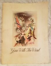 VINTAGE Gone With the Wind Souvenir Program Booklet - 1939 Film Movie Theater
