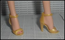 SHOES BARBIE SILKSTONE MODEL MUSE SIGNATURE FAN CLUB YELLOW GOLD SANDAL HEELS