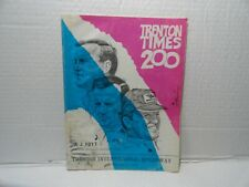 TRENTON TIMES 200 - VINTAGE  MAGAZINE PROGRAM - SEPTEMBER 23 1973 A J FOYT COVER