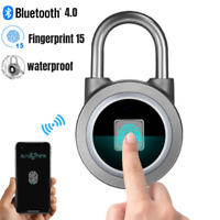 Smart Fingerprint Wireless Bluetooth Padlock Keyless Door Lock APP Control