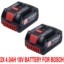 2x4.0AH 18V Li-ion Battery For Bosch BAT609 BAT618 17618 25618-01 2 607 336 091