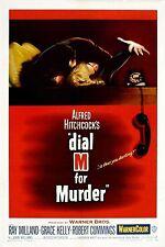 Dial M per omicidio di Alfred Hitchcock film VINTAGE MOVIE POSTER STAMPA FOTO A4