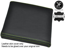 GREEN STITCH CONSOLE CUBBY BOX LID LEATHER COVER FITS RANGE ROVER P38 1994-2002