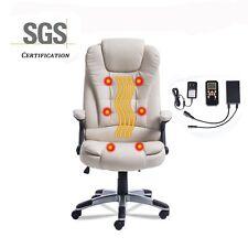 Executive Heated Vibrating Computer Office Massage Chair PU Leather Ergonomic US