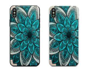 Blue Mandala Flower IPhone Case 6 7 8 Plus X XS XR 11 12 Pro Max Mini