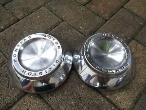 1963-1964 Pontiac Grand Prix/Bonneville  Dog Dish Hubcaps Set of 2 OEM