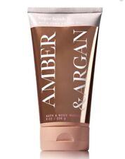 Bath and Body Works Amber & Argan Sugar Scrub With Pure Argan Oil ~ 8 oz