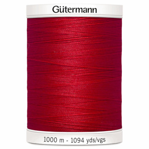 Gutermann Sew-all 100% Polyester Thread 1000m Hand and Machine SELECT COLOUR