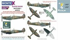 Montex 1/24 masks, nose art and stencils for SPITFIRE I by AIRFIX - K24083