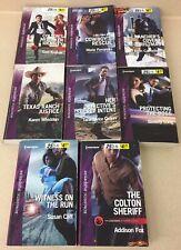 Harlequin Romantic Suspense Lot Of 8 Books Paperback Novels Like New FC27
