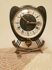 Vintage Dutch Table clock, Hindeloopen hand painted  (Orfac from 1960)