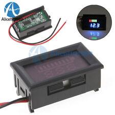 Blue Charge Level Indicator Voltmeter Stable for 12V Lead-acid Battery