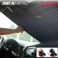 Auto Front Windshield Visor Car Retractable Sun Shade Folding Block Cover 70CM